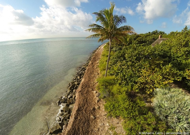 Key Biscayne Beach Aerial Photo