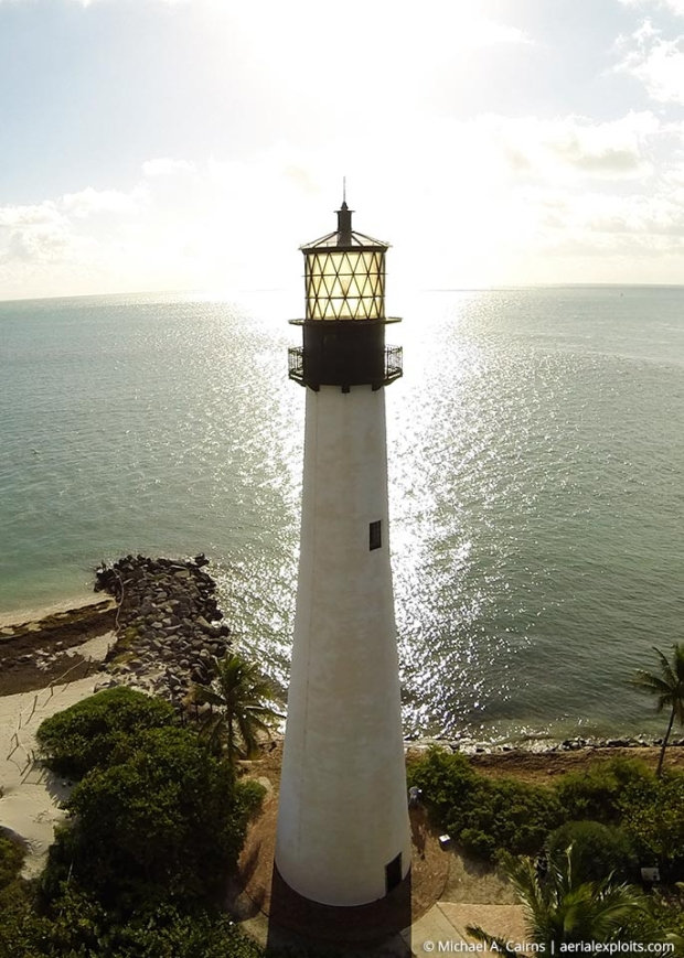 Key Biscayne Lighthouse Aerial Photo