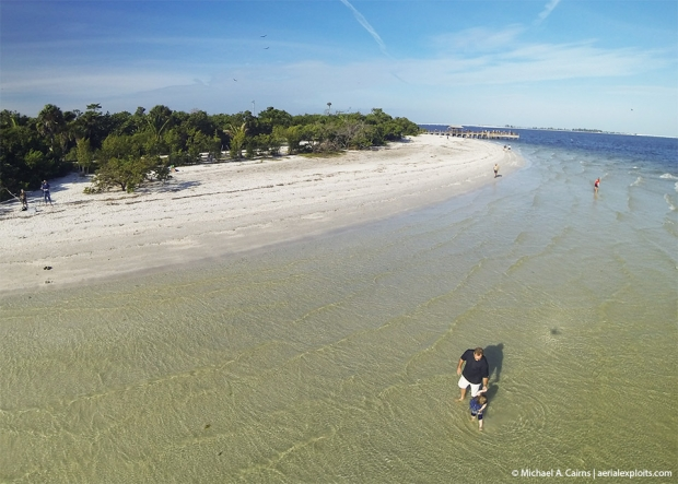 Sanibel Beach Aerial Photo