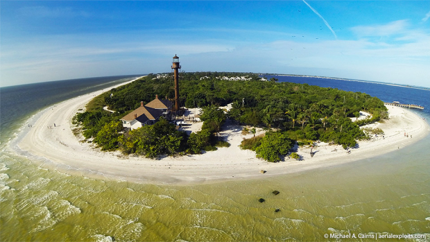 Sanibel Lighthouse Aerial Photo