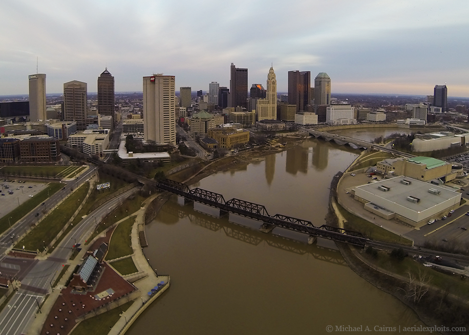Aerial Photo of Columbus Skyline