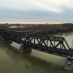 Aerial Photo of Train Bridge