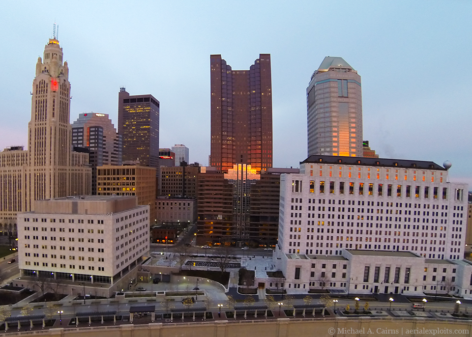 Aerial Photo of Downtown Columbus